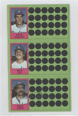 1981 Topps Baseball Scratch-Off #445 - Steve Garvey, Ron Cey, Davey Lopes