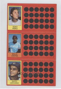1981 Topps Baseball Scratch-Off #45-27-8 - Willie Aikens, Sixto Lezcano, Tony Perez