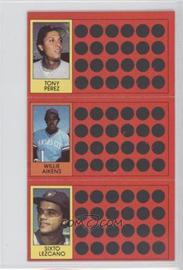 1981 Topps Baseball Scratch-Off #45-27-8 - Willie Aikens, Sixto Lezcano, Tony Perez
