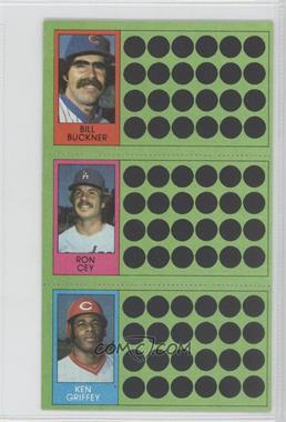 1981 Topps Baseball Scratch-Off #91-73-55 - Bill Buckner, Ron Cey, Ken Griffey