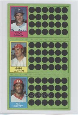 1981 Topps Baseball Scratch-Off #91-74-56 - Steve Garvey, Greg Luzinski, Ken Griffey