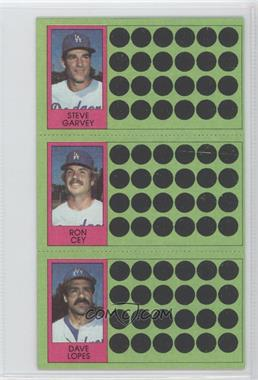 1981 Topps Baseball Scratch-Off #92-73-56 - Steve Garvey, Ron Cey, Davey Lopes