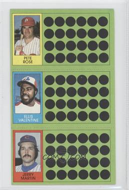 1981 Topps Baseball Scratch-Off #98-80-62 - Pete Rose, Ellis Valentine