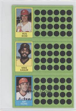 1981 Topps Baseball Scratch-Off #99-81-62 - Pete Rose, Mike Easler, Art Howe