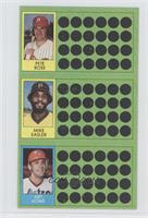Pete Rose, Mike Easler, Art Howe
