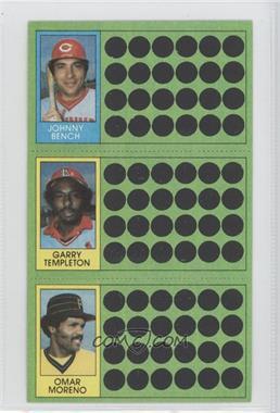 1981 Topps Baseball Scratch-Off #N/A - Garry Templeton, Omar Moreno
