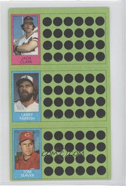 1981 Topps Baseball Scratch-Off #N/A - Jack Clark, Tom Seaver