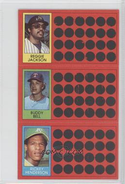 1981 Topps Baseball Scratch-Off #N/A - Reggie Jackson, Buddy Bell
