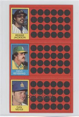 1981 Topps Baseball Scratch-Off #N/A - Reggie Jackson, Dave Revering, Dan Meyer