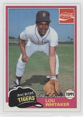 1981 Topps Coca-Cola Team Sets - Detroit Tigers #10 - Lou Whitaker