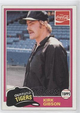 1981 Topps Coca-Cola Team Sets - Detroit Tigers #11 - Kirk Gibson