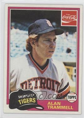 1981 Topps Coca-Cola Team Sets - Detroit Tigers #9 - Alan Trammell