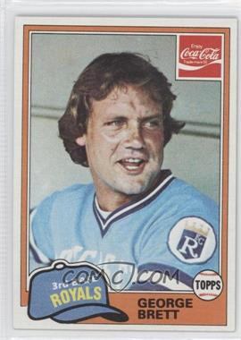 1981 Topps Coca-Cola Team Sets - Kansas City Royals #2 - George Brett