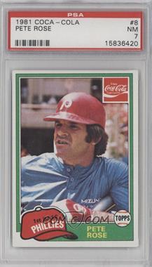1981 Topps Coca-Cola Team Sets - Philadelphia Phillies #8 - Pete Rose [PSA7]