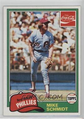 1981 Topps Coca-Cola Team Sets - Philadelphia Phillies #9 - Mike Schmidt