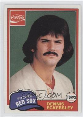 1981 Topps Coca-Cola Team Sets Boston Red Sox #2 - Dennis Eckersley