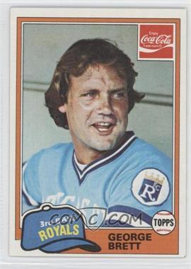 1981 Topps Coca-Cola Team Sets Kansas City Royals #2 - George Brett