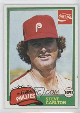 1981 Topps Coca-Cola Team Sets Philadelphia Phillies #3 - Steve Carlton