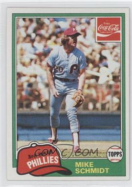 1981 Topps Coca-Cola Team Sets Philadelphia Phillies #9 - Mike Schmidt