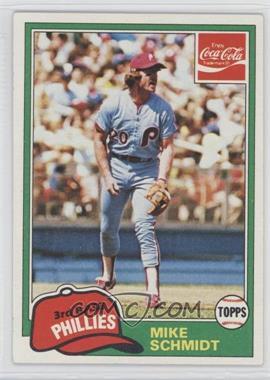 1981 Topps Coca-Cola Team Sets Philadelphia Phillies #9 - Mike Schmidt