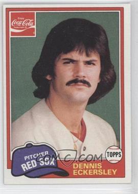 1981 Topps Coca-Cola Team Sets #2 - Dennis Eckersley