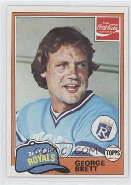 1981 Topps Coca-Cola Team Sets #2 - George Brett
