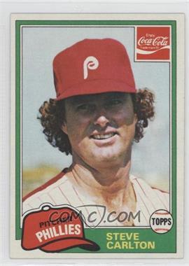 1981 Topps Coca-Cola Team Sets #3 - Steve Carlton