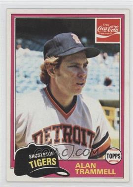 1981 Topps Coca-Cola Team Sets #9 - Alan Trammell