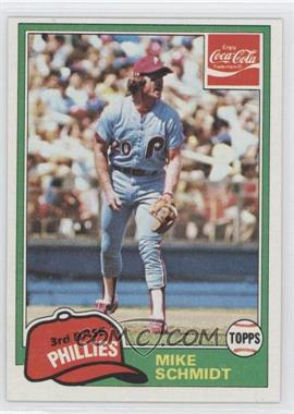 1981 Topps Coca-Cola Team Sets #9 - Mike Schmidt