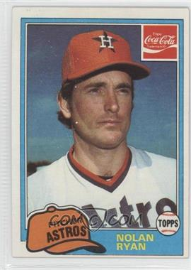 1981 Topps Coca-Cola Team Sets #9 - Nolan Ryan
