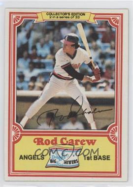 1981 Topps Drake's Big Hitters - [Base] #2 - Rod Carew