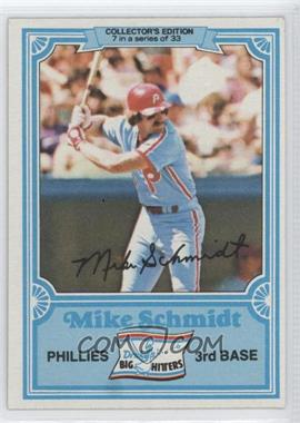 1981 Topps Drake's Big Hitters - [Base] #7 - Mike Schmidt