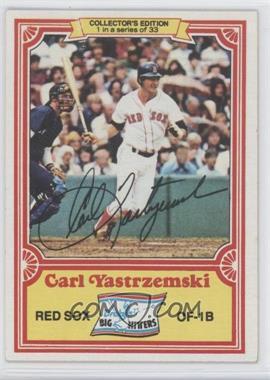 1981 Topps Drake's Big Hitters #1 - Carl Yastrzemski