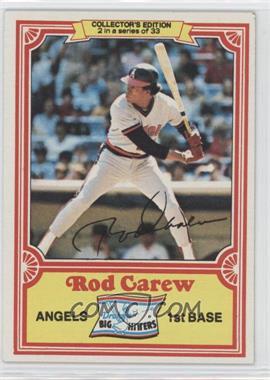 1981 Topps Drake's Big Hitters #2 - Rod Carew