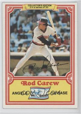 1981 Topps Drake's Big Hitters #2 - Rod Carew