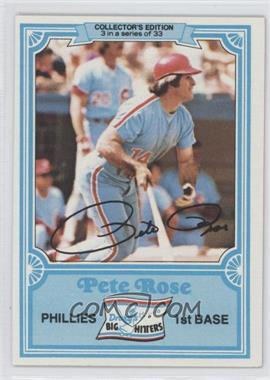 1981 Topps Drake's Big Hitters #3 - Pete Rose