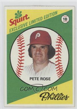 1981 Topps Squirt Exclusive Limited Edition Food Issue [Base] #11 - Pete Rose