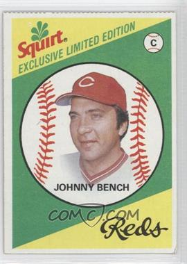 1981 Topps Squirt Exclusive Limited Edition Food Issue [Base] #20 - Johnny Bench