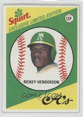 1981 Topps Squirt Exclusive Limited Edition Food Issue [Base] #28 - Rickey Henderson