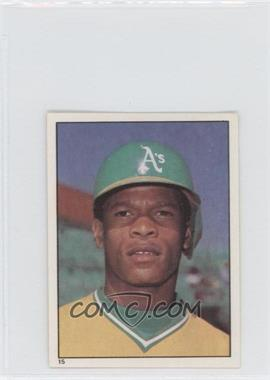 1981 Topps Stickers #15 - Rickey Henderson