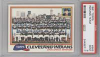 Cleveland Indians Team Checklist (Dave Garcia, Manager) [PSA9]