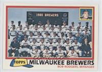 Milwaukee Brewers Team Checklist (Bob Rodgers, Manager)