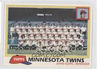 Minnesota Twins Team Checklist (John Goryl, Manager)