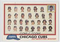 Chicago Cubs Team Checklist (Joe Amalfitano, Manager)