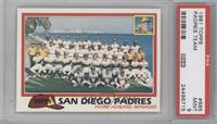 San Diego Padres Team Checklist (Frank Howard Manager) [PSA 9]