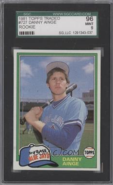 1981 Topps Traded #727 - Danny Ainge [SGC96]