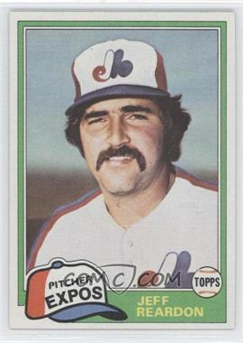 1981 Topps Traded #819 - Jeff Reardon