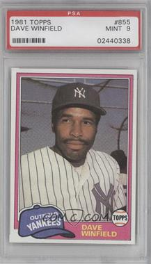 1981 Topps Traded #855 - Dave Winfield [PSA9]