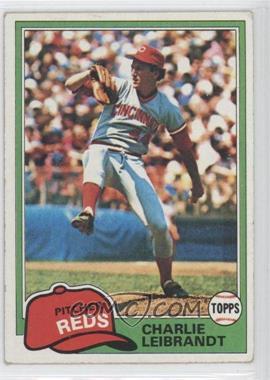 1981 Topps #126 - Charlie Leibrandt