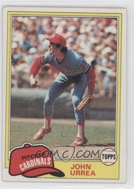 1981 Topps #152 - John Urrea